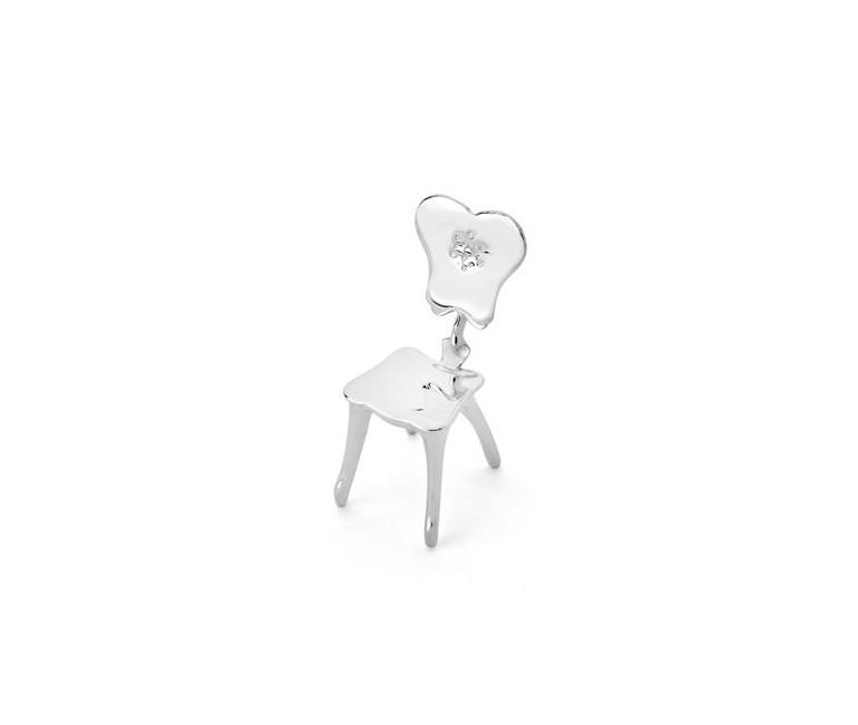 Miniatura Silla Calvet en plata