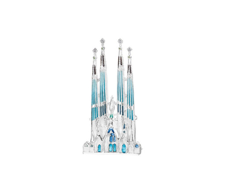 Sagrada Familia Miniature in Silver
