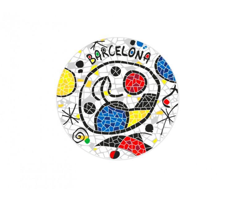 Ceramic Coaster Barcelona Miro Inspiration