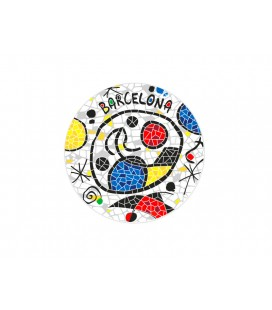 Ceramic Coaster Barcelona Miro Inspiration