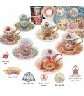Set of 6 Coffee Cup and Saucer Gaudi Elements