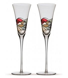 Deux verres à champagne Gaudí Terra
