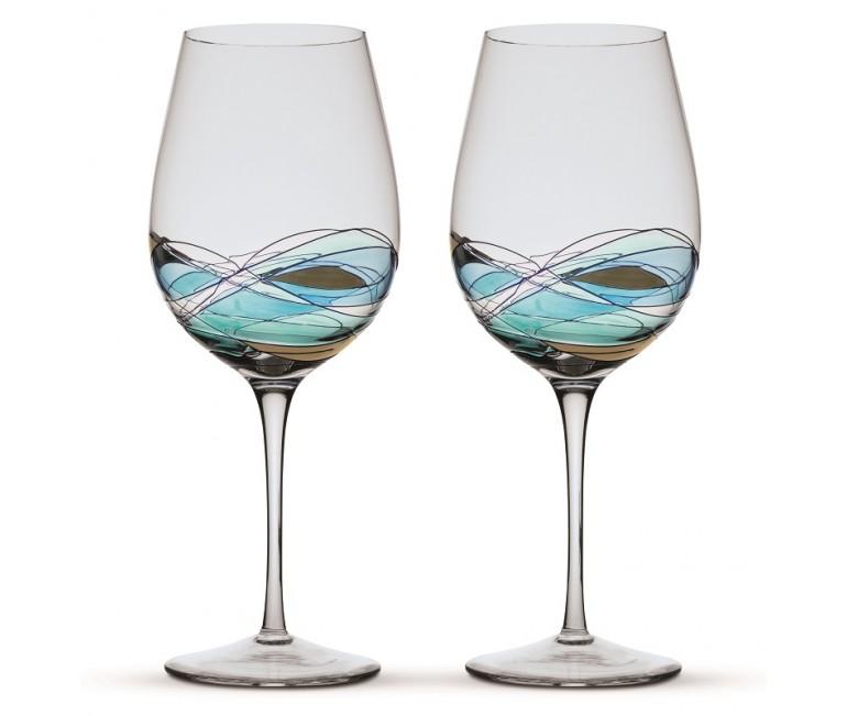 Two Wine Glasses Gaudi Terra