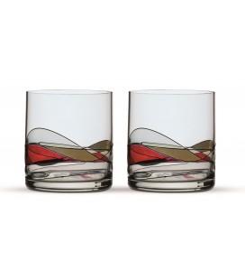 Two Whisky Glasses Gaudi Terra