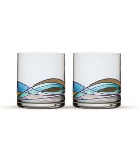 Two Whisky Glasses Gaudi Aqua