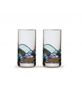 Two Shot Glasses Gaudi Aqua