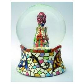 Bola de neu de vidre Portería 8 cm