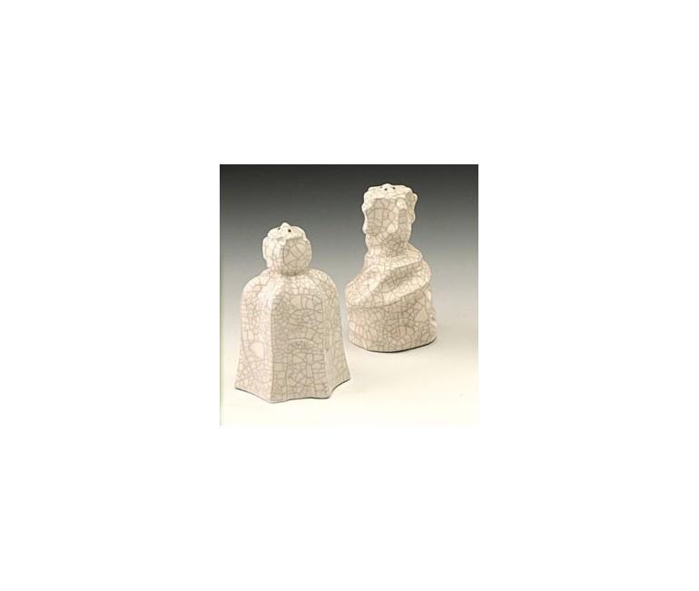 Set of saltcellar and pepper La Pedrera chimneys