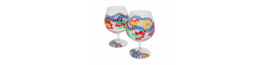 Cava and Wine Glasses