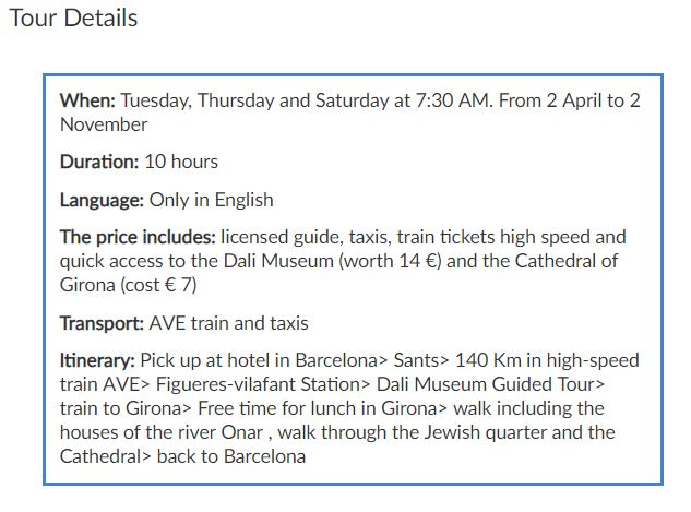 Dalí Museum & Girona Tour - Gaudi Barcelona Shop